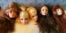 Five Barbie Collector Heads  Lot-- Great For OOAK