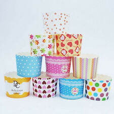 50pcs Disposable Cake Baking Paper Cup Cupcake Muffin Cases fit Home Party sgg1