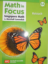Math in Focus The Singapore Approach Reteach Grade Level 3 Book A Brand New!!