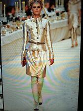 Chanel 12A NEW TAGS Paris-Bombay Gold draping front Skirt CC logo FR38 $3.5K
