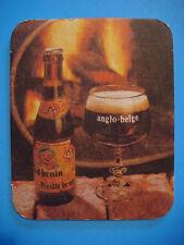 Belgian Beer Coaster ~ Brouwerij Anglo Belge ~ Zulte, BELGIUM Brewery 1891-1989