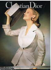 Publicité Advertising 1991 Haute Couture femme Christian Dior Boutique