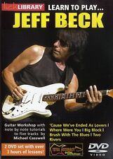 Lick Library LEARN TO PLAY 5 JEFF BECK Songs Guitar Video Lessons 2 DVD Set