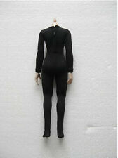1:6 Scale Female Black Tight leotard Slim Stretch Clothing Model Toys Style D