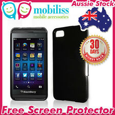 Dark Grey TPU Gel Jelly Silicone Case Cover for Blackberry Z10 Screen Protector