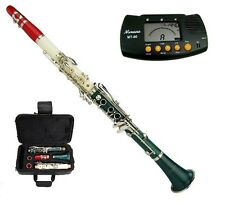 New Merano Bb TRI-COLOR Clarinet,Zippered Hard Case+FREE METRO TUNER+11 REEDS