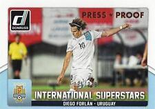 2015 Donruss Soccer 'International Superstars' #61 Diego Forlan 195/299 Uruguay