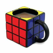 Official Rubiks Cube 3D Shaped Ceramic Coffee Mug - Retro Game Gift Boxed