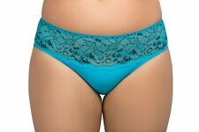 Ladies Size 12-14 Designer Bikini Knickers Panties Luxury Briefs Blue