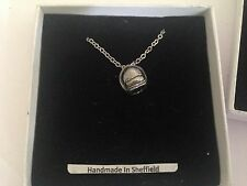 Space Helmet Apollo SP/PT english pewter 3D Platinum Necklace Handmade 18 INCH