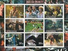 JURASSIC PARK III DINOSAUR HOLLYWOOD MOVIE KYRGYZSTAN 2001 MNH STAMP SHEETLET