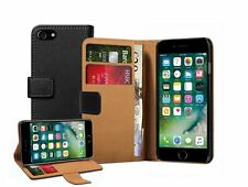 Wallet Black Leather Flip Case Cover Pouch Saver For Apple iPhone 7 PLUS