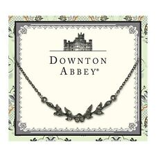 Downton Abbey Collection Jeweled Jet Leaf Collar Necklace 17577 Free Shipping