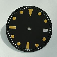 Plain Milsub Watch Dial for ETA 2836 / 2824 Movement Orange Lume w/Date
