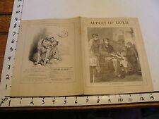 Original 1879 APPLES OF GOLD: VOL. VIII # 23  : A HAPPY HOME
