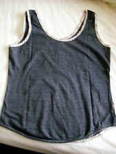Burberry London - Denim Blue/Nova Check Trim Tank Top - size 40 - fit uk 10