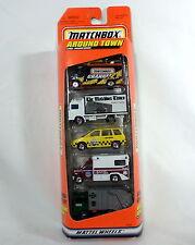 MATCHBOX Around Town 1997 Gift Pack 5 Truck Car Set Taxi Ambulance Mattel NEW