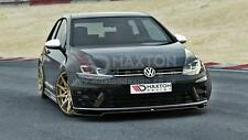 FRONT SPLITTER (GLOSS BLACK) - VOLKSWAGEN GOLF mk7 R ver.2   (2012-up)