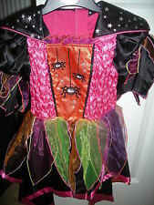 M&S FANCY DRESS GIRLS HALLOWEEN SPIDER WITCH DRESSING UP OUTFIT - AGE 3-4 - NEW