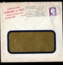 """AVRANCHES (50) QUINCAILLERIE """"HAMARD & FRIN"""" Voyagée en 1960"""