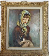 MARCEL DYF SIGNED OIL ON CANVAS WITH AUTHENTICATION BY MME CLAUDINE DYF