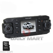 "720P GPS G-sensor 32GB Car Video Dual Camera DVR Recorder Night 2"" Motion Detect"