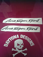 AERO SUPER SPORT YZF THUNDERCAT BLACK CUSTOM DECALS STICKERS