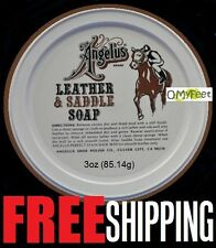 3oz Angelus Leather Saddle Soap Baseball Gloves Shoes Boots Luggage Upholstery