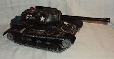 VINTAGE BATTERY OPERATED TIN TOY ARMY TANK M- 3599 MADE IN JAPAN RARE