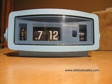 Vintage Serviced Panasonic RC-1085 Flip Clock Radio Baby Blue