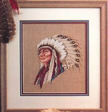 Leisure Arts HOLLOW HORN BEAR Cross Stitch Chart/Leaflet ~ Indian Chief/tribal