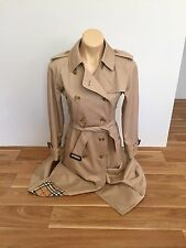BURBERRY's $2550 Prorsum Label Beige Trench Coat Size US 8 UK 10 AUS 10