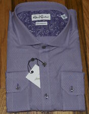 NWT ROBERT GRAHAM X Collection Tailored Fit purple checked dress shirt 17.5 44