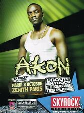 Publicité advertising 2007 Concert Akon Zenith de Paris