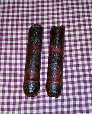 """2~4"""" Battery LED Timer Drip Candles Rustic Primitive Country burgundy"""