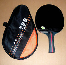 High Level Friendship RITC729 Pro Table Tennis Paddle Bat: Black Whirlwind, New