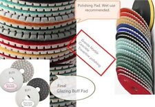 "4"" Diamond Polishing Pad Glaze Buff 9+1 PC Granite Concrete Lapidary Marble Tile"
