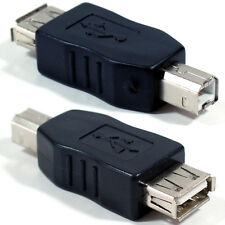 USB B Male to Type A Female Printer Cable Converter Adapter - 2.0 PC Scanner