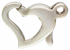 Sterling Silver .925 Heart Shaped Lobster Clasp. 9.5mm x 8mm. 2 Pieces ~2070~