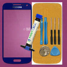 Blue Front Lens Screen Glass Replacement for Samsung Galaxy S4 Mini w/ UV LOCA