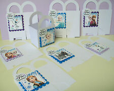 8 Disney's FROZEN  Purple Personalized  boxes birthday party favors goody bags