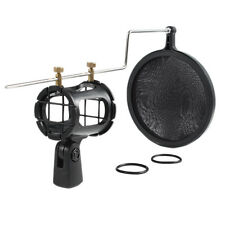 Microphone Shock Mount Stand Holder w/ Pop Filter Shockmount Universal Kit