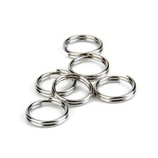 100 Nickel Pld Metal Double Loop Split Rings Keyring Bag Charm Findings 12mm