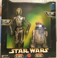 STAR WARS ELECTRONIC C-3PO AND R2-D2 12' FIGURE ( MINT IN BOX )