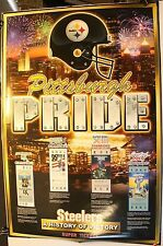 "Pittsburgh Steelers Pride History of Victory Super Tickets 36 x 24"" Poster"