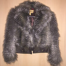 Roberto Cavalli at H&M Jacke Felljacke Fake fur EUR Größe 38 size US 8 UK 12