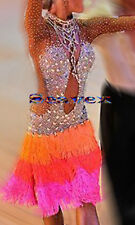 Competition Women Ballroom Rumba Salsa Latin Smooth Dance Dress US 6 UK 8