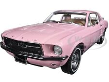1967 FORD MUSTANG COUPE PINK WITH LUGGAGE 1/18 DIECAST MODEL BY GREENLIGHT 12966
