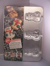 Wilton SNOWMAN Cookie Treat Pan #2105-8107 from 1996 Bakeware Christmas