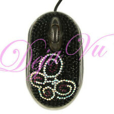 CRYSTAL RHINESTONE USB BUTTERFLY OPTICAL COMPUTER MOUSE